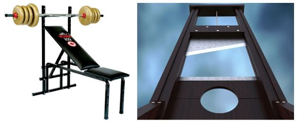The york bench press comparison to a guillotine