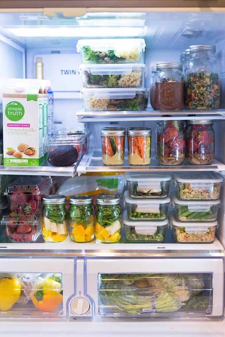 meal prep in the fridge